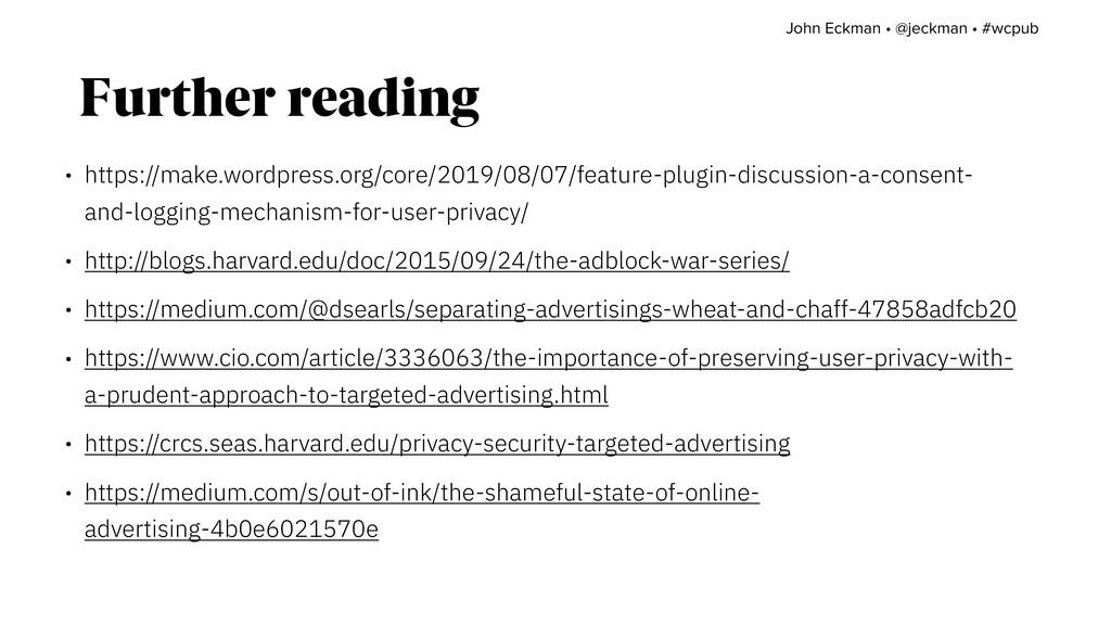 Further reading • https://make.wordpress.org/co...