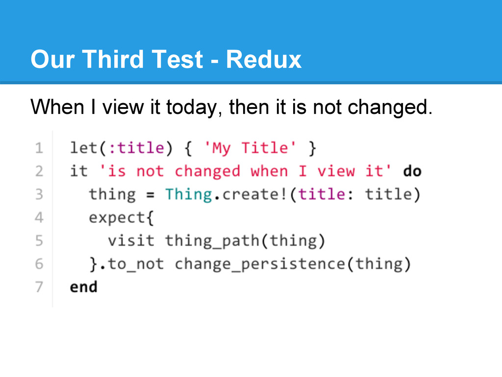 Our Third Test - Redux When I view it today, th...