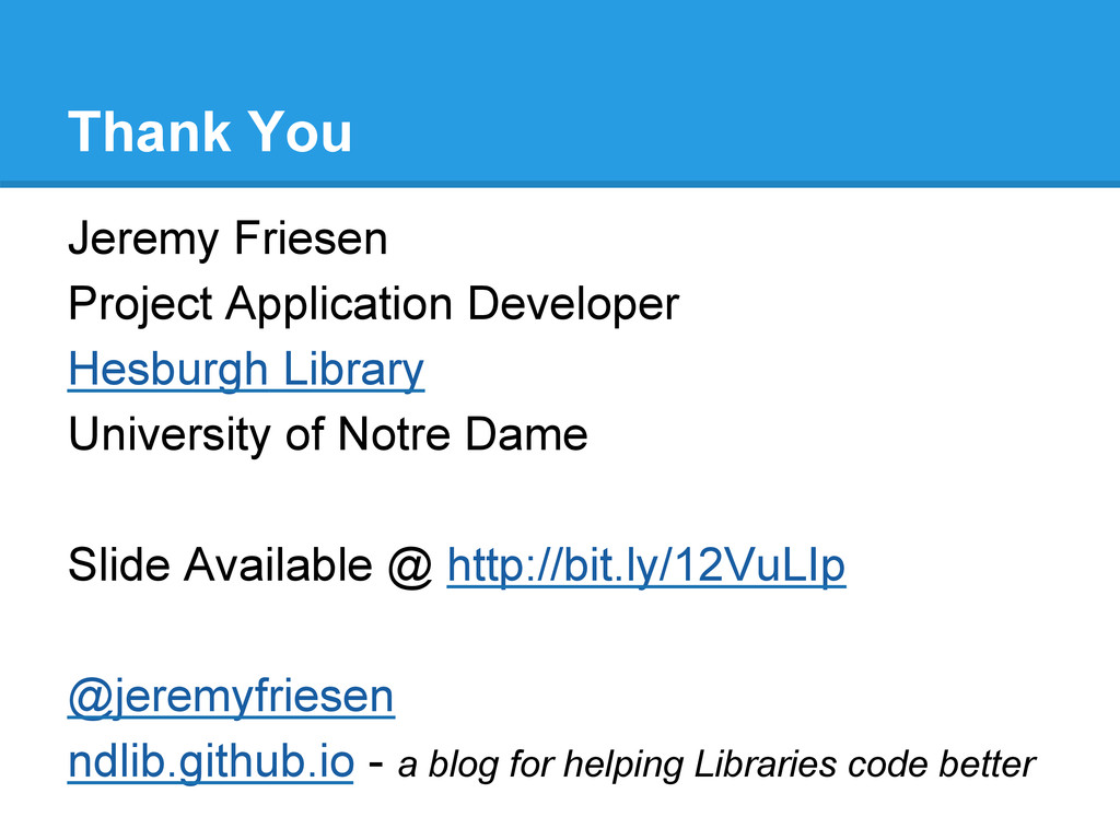 Thank You Jeremy Friesen Project Application De...