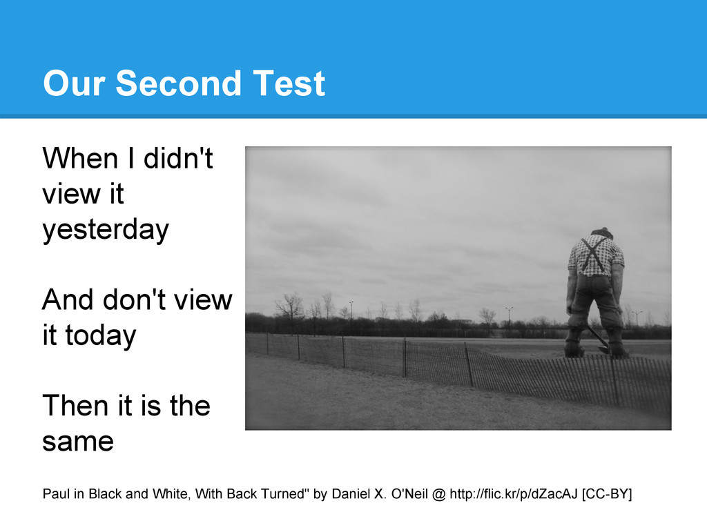 Our Second Test When I didn't view it yesterday...