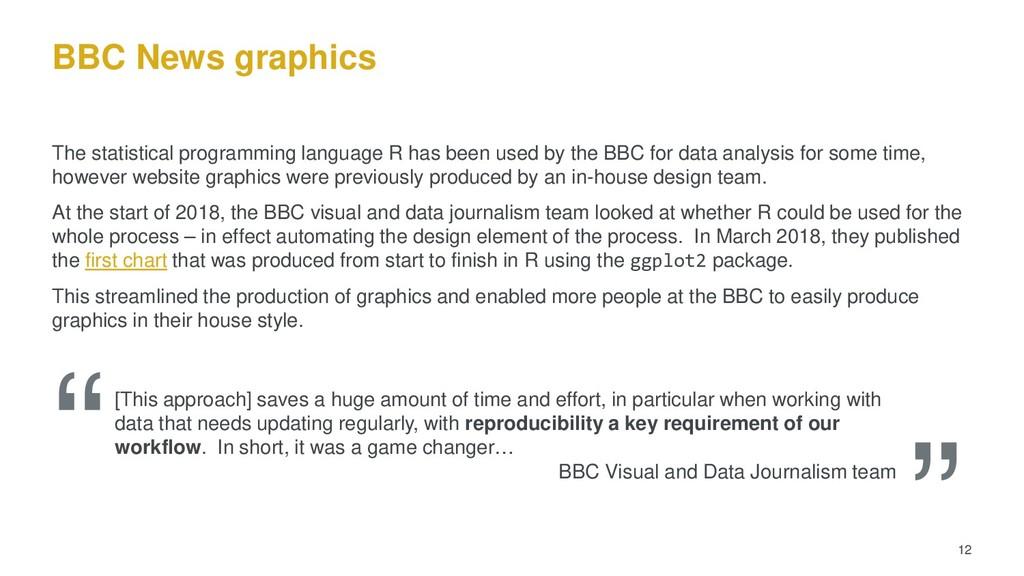 BBC News graphics The statistical programming l...