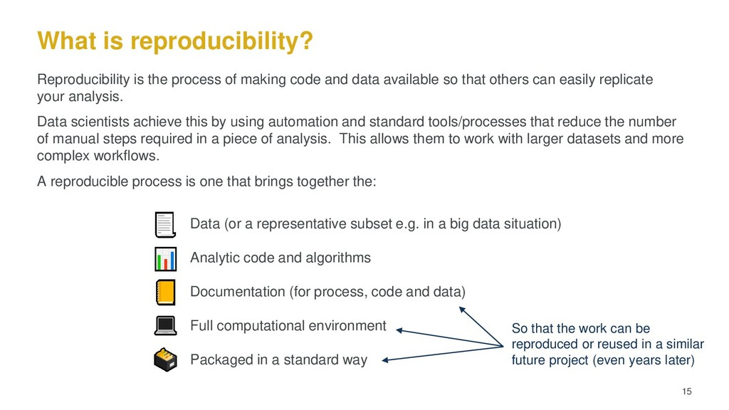 What is reproducibility? 15 Reproducibility is ...