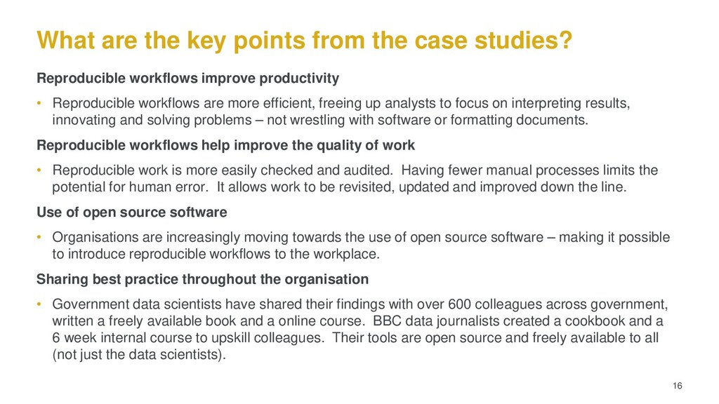 What are the key points from the case studies? ...
