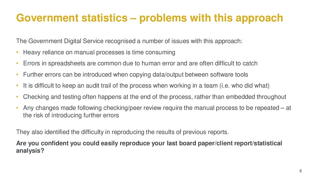 Government statistics – problems with this appr...