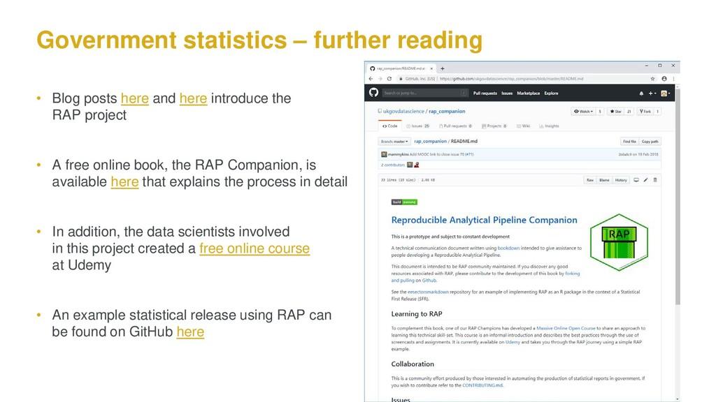 Government statistics – further reading • Blog ...