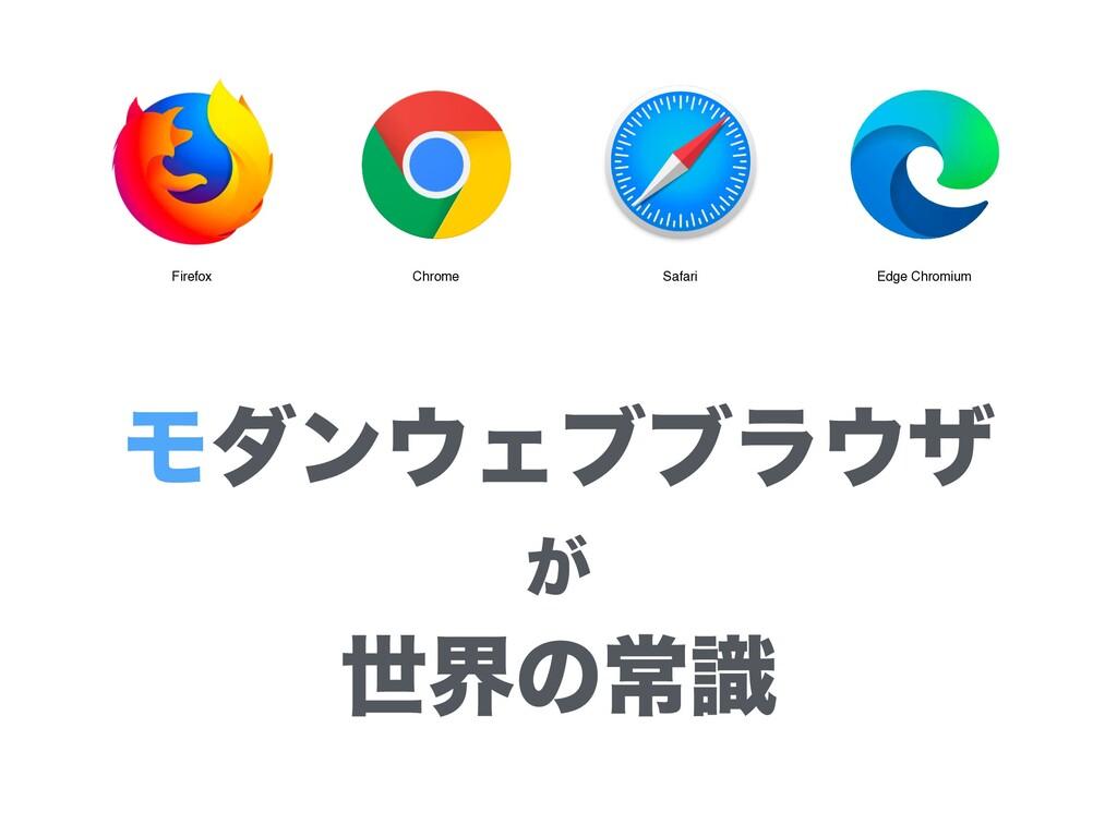 ϞμϯΣϒϒϥβ ͕ ੈքͷৗࣝ Firefox Chrome Safari Edge...