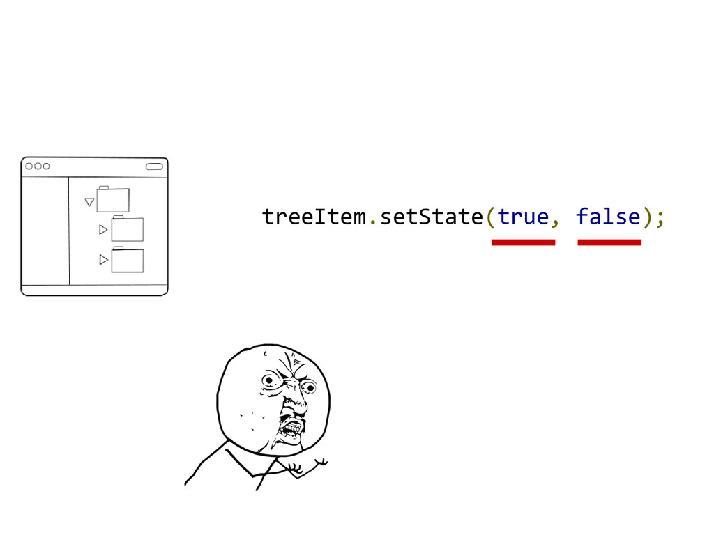 treeItem.setState(true, false);