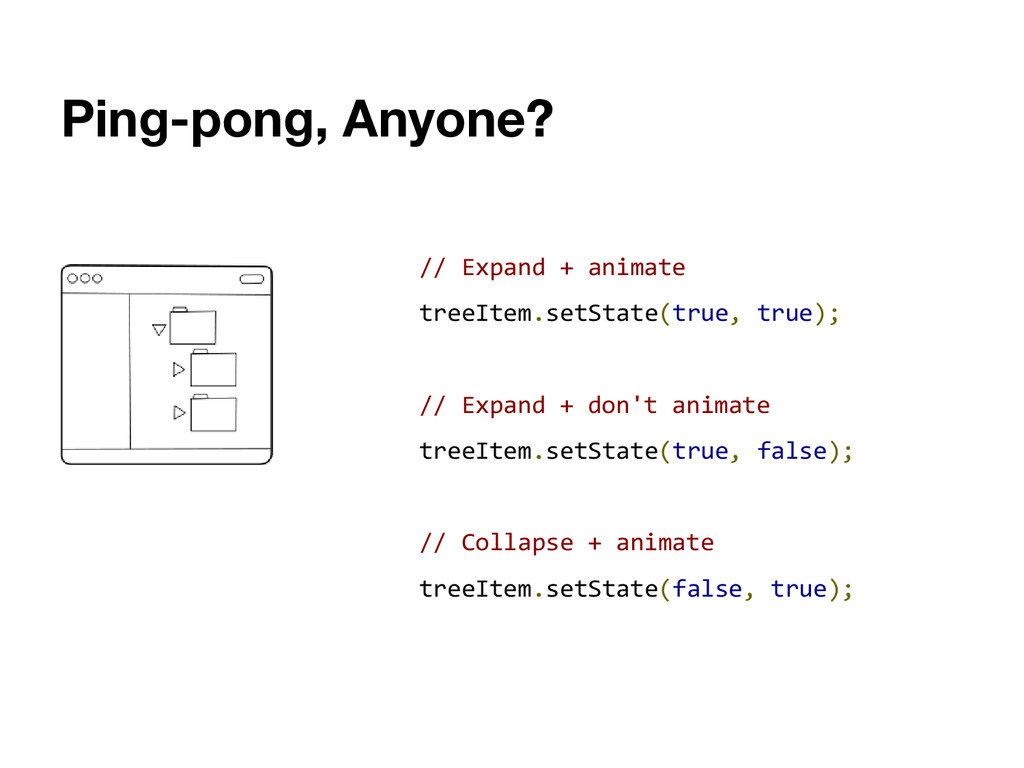 Ping-pong, Anyone? // Expand + animate treeItem...