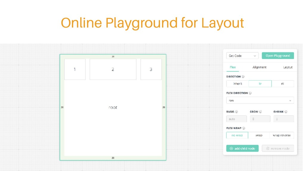 Online Playground for Layout
