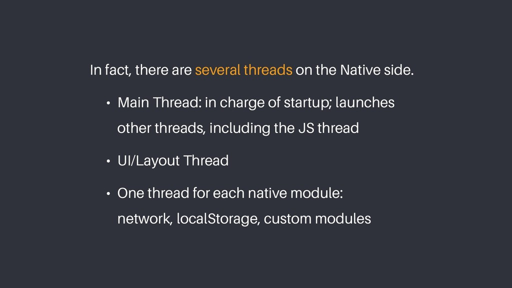 In fact, there are several threads on the Nativ...