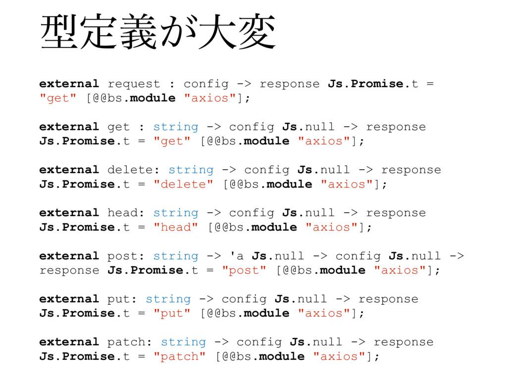 external request : config -> response Js.Promis...