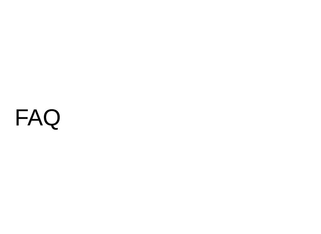 FAQ FAQ
