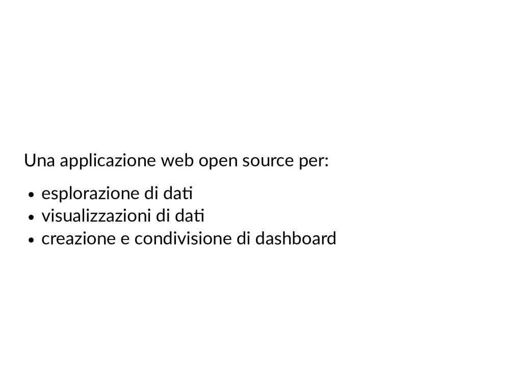 Una applicazione web open source per: esplorazi...