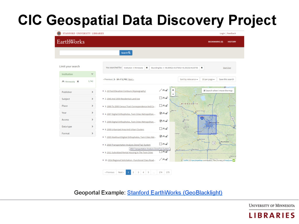 CIC Geospatial Data Discovery Project Geoportal...