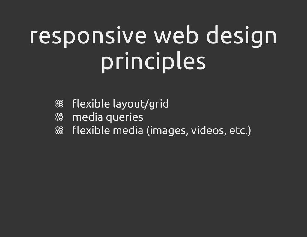 responsive web design principles flexible layou...