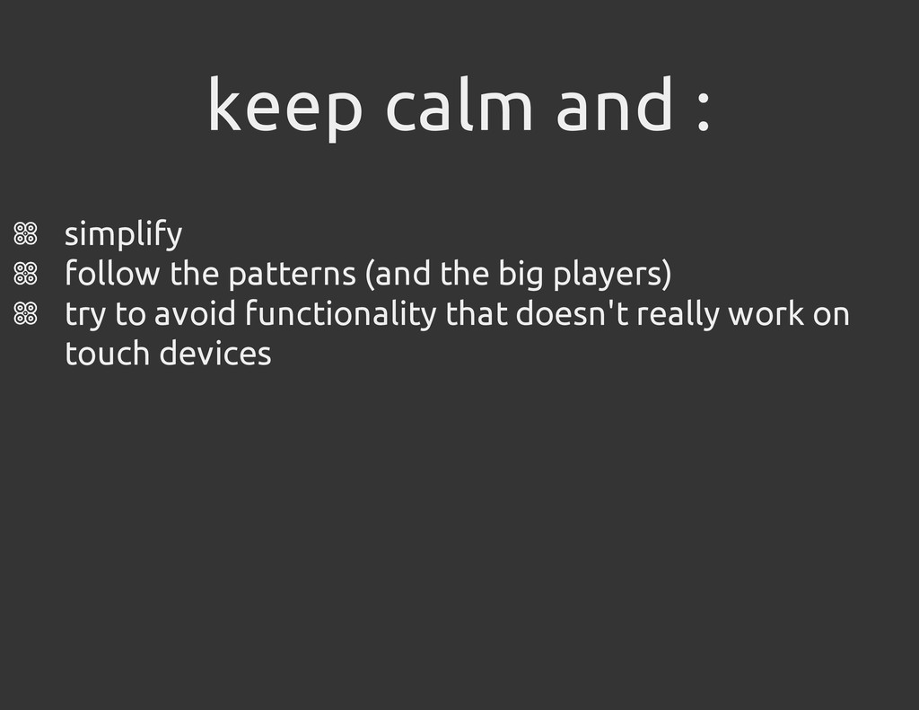 keep calm and : simplify follow the patterns (a...