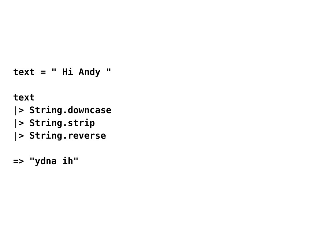 "text = "" Hi Andy "" text 