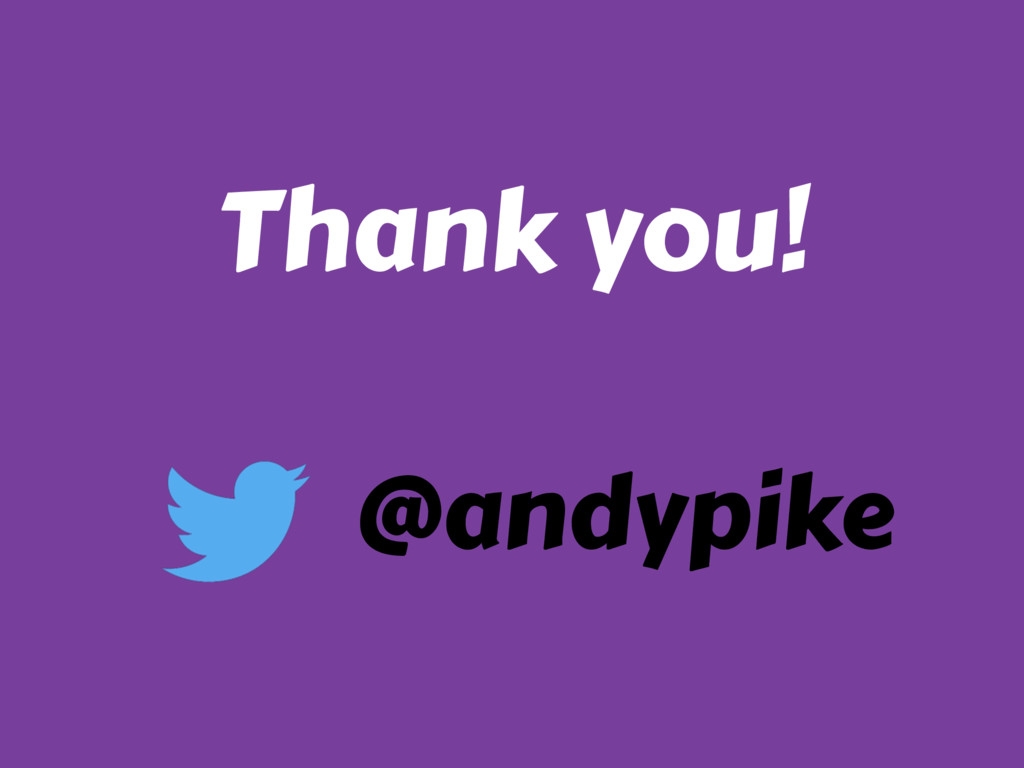 Thank you! @andypike