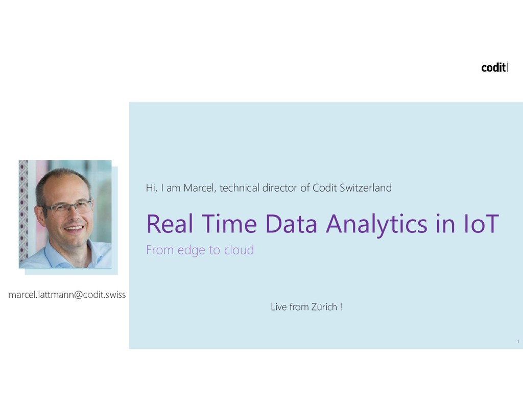 Real Time Data Analytics in IoT From edge to cl...