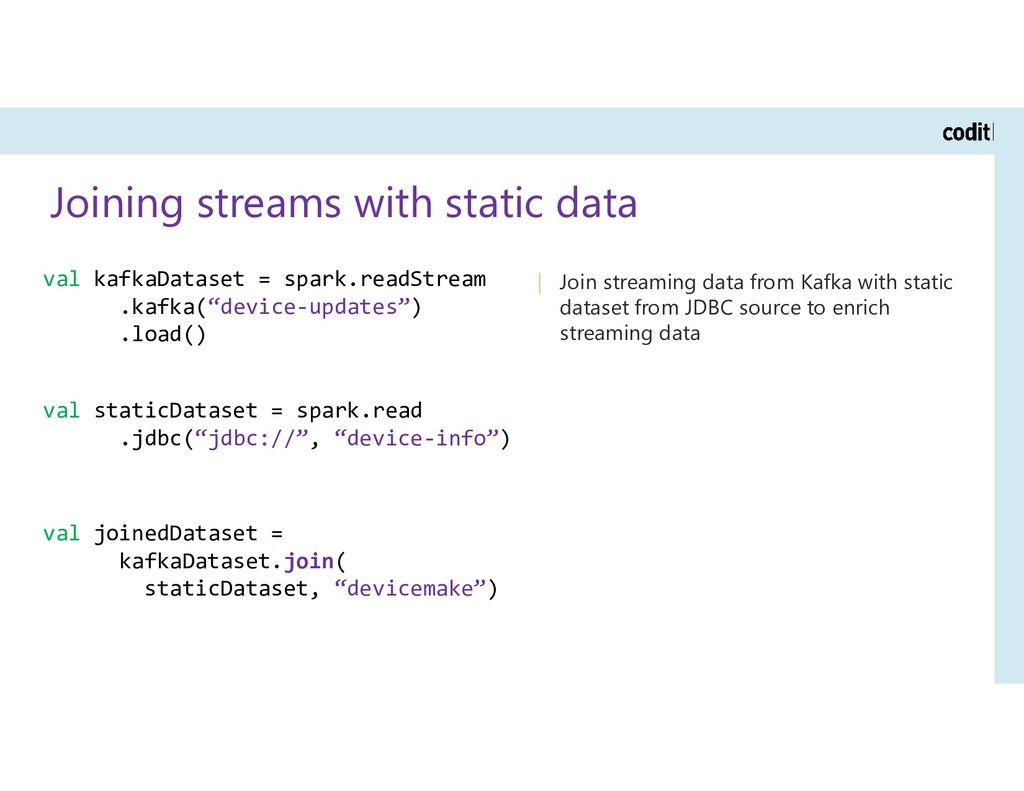 Joining streams with static data | Join streami...