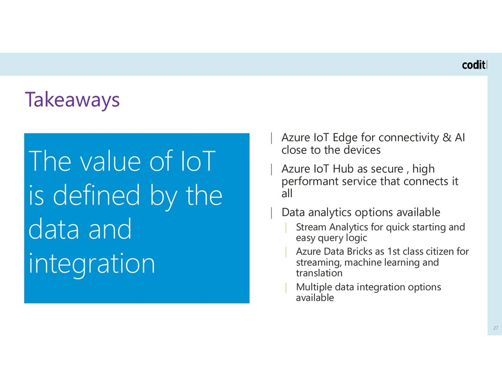 Takeaways 27 | Azure IoT Edge for connectivity ...