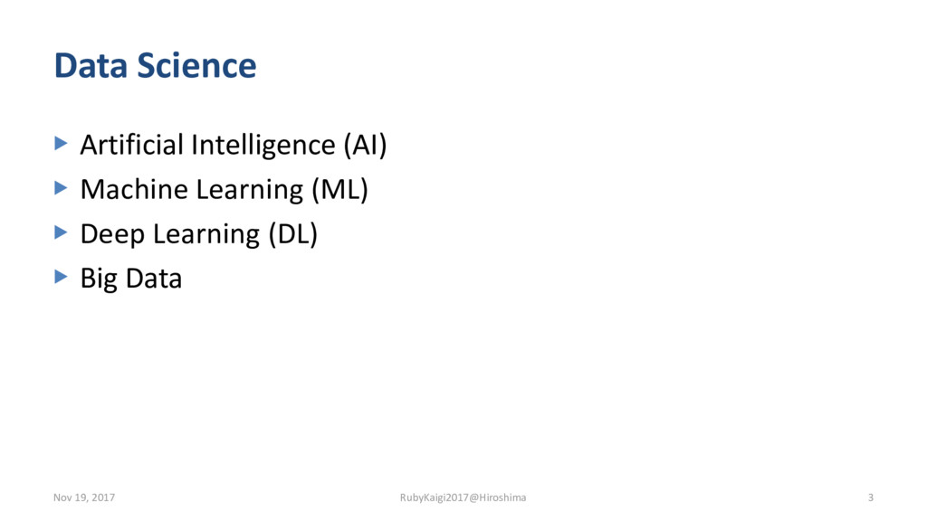 Data Science ▶ Artificial Intelligence (AI) ▶ M...