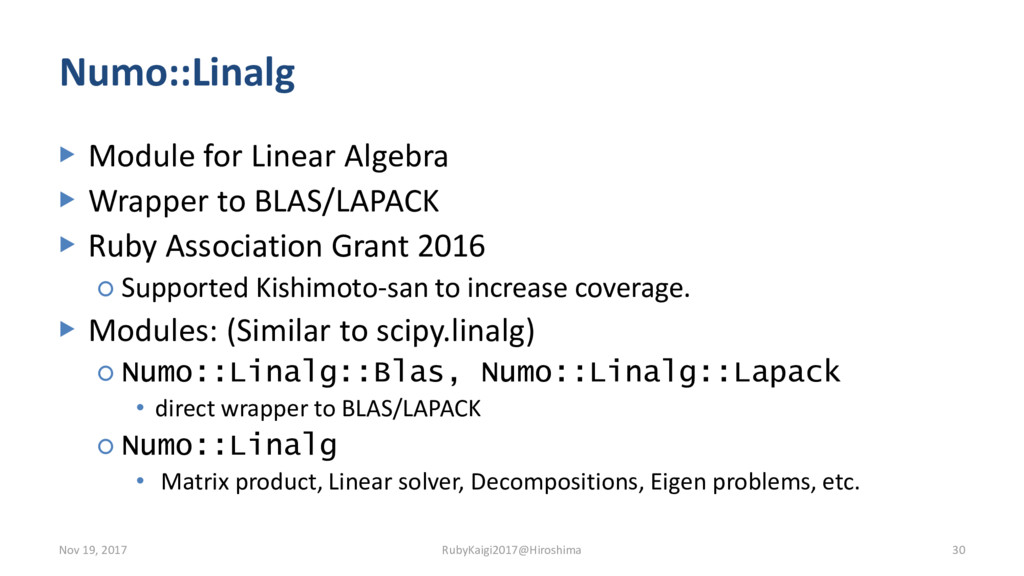 Numo::Linalg ▶ Module for Linear Algebra ▶ Wrap...