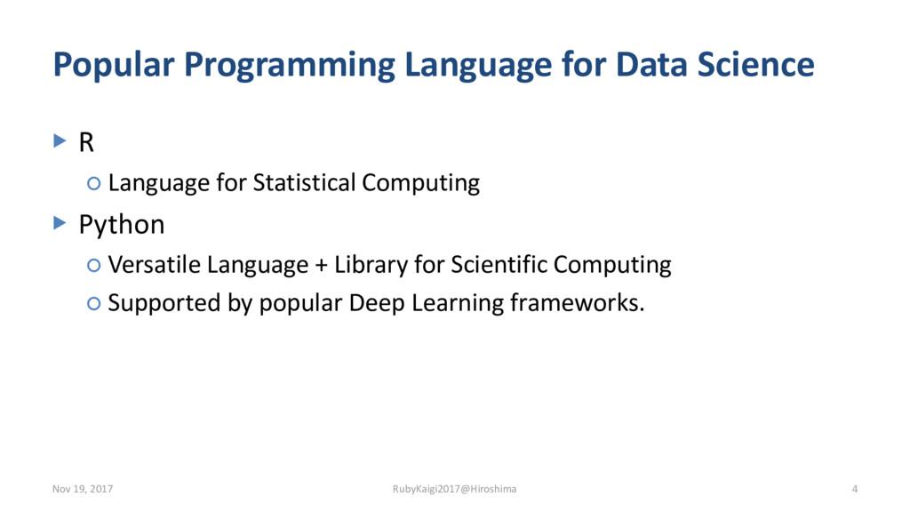 Popular Programming Language for Data Science ▶...