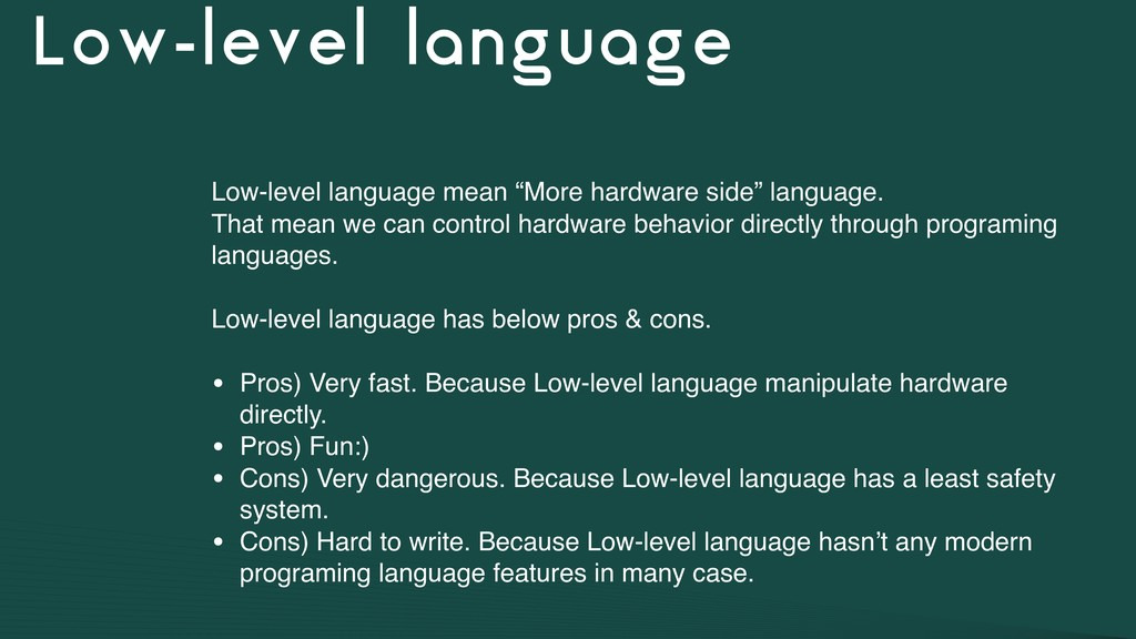 "Low-level language Low-level language mean ""Mor..."
