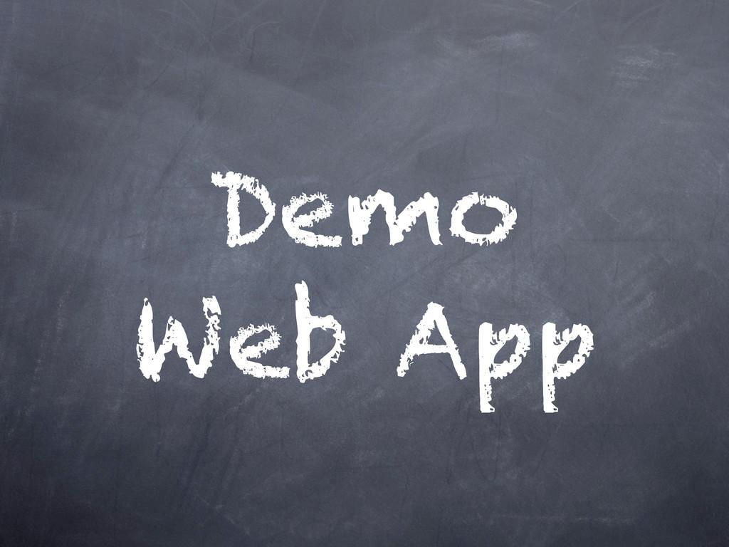 Demo Web App