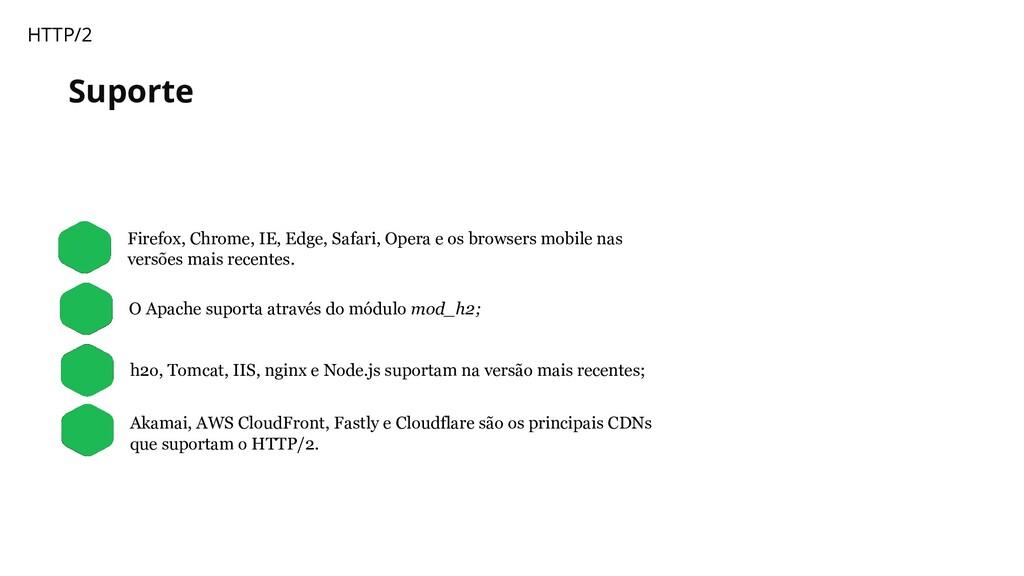 Suporte HTTP/2 Firefox, Chrome, IE, Edge, Safar...