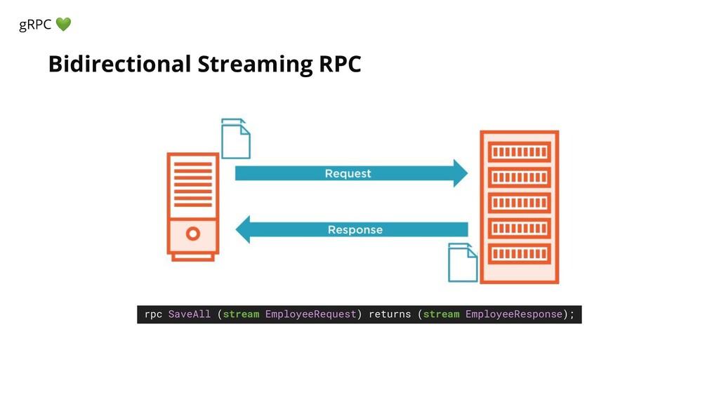 Bidirectional Streaming RPC gRPC  rpc SaveAll (...