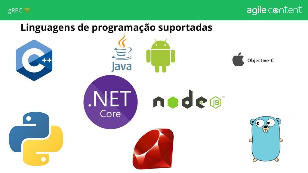 Linguagens de programação suportadas gRPC