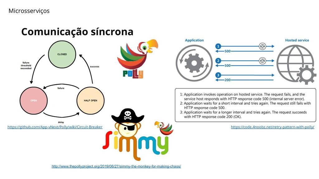 Comunicação síncrona Microsserviços https://git...
