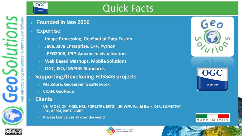 Quick Facts ⚫ Founded in late 2006 ⚫ Expertise ...