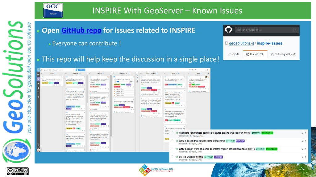 INSPIRE With GeoServer – Known Issues ⚫ This re...