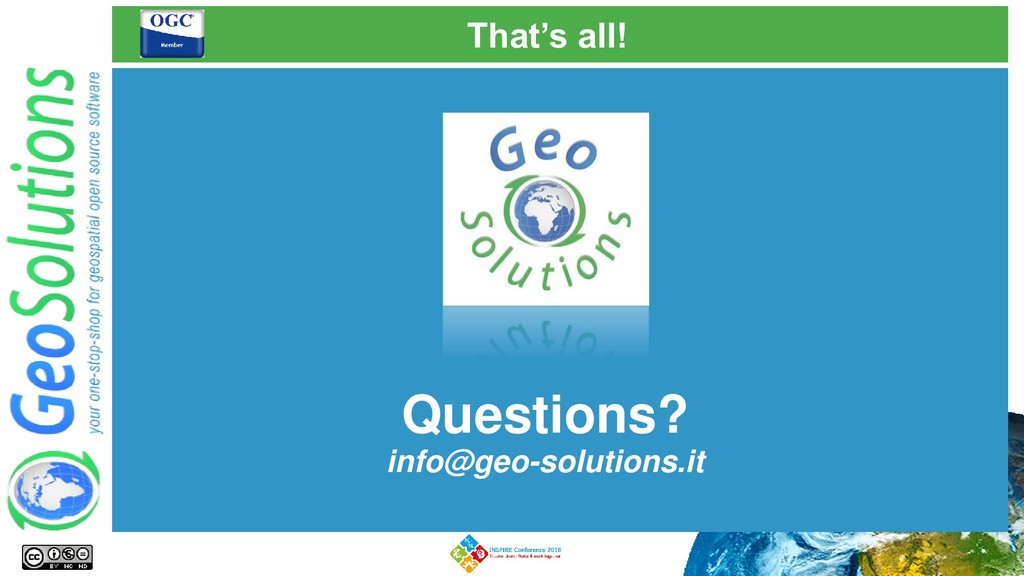 That's all! Questions? info@geo-solutions.it