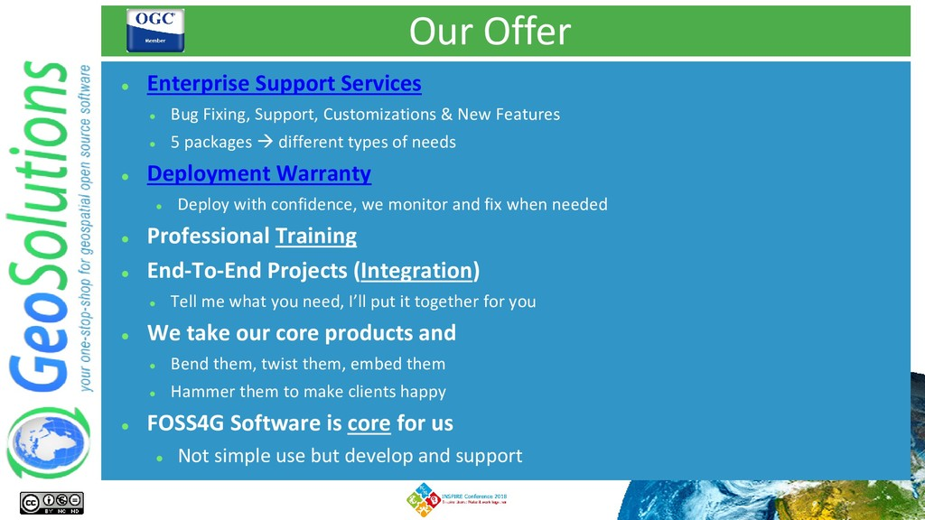 Our Offer ⚫ Enterprise Support Services ⚫ Bug F...