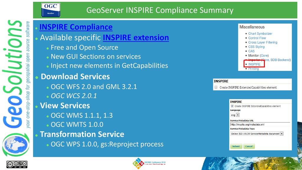 GeoServer INSPIRE Compliance Summary ⚫ INSPIRE ...