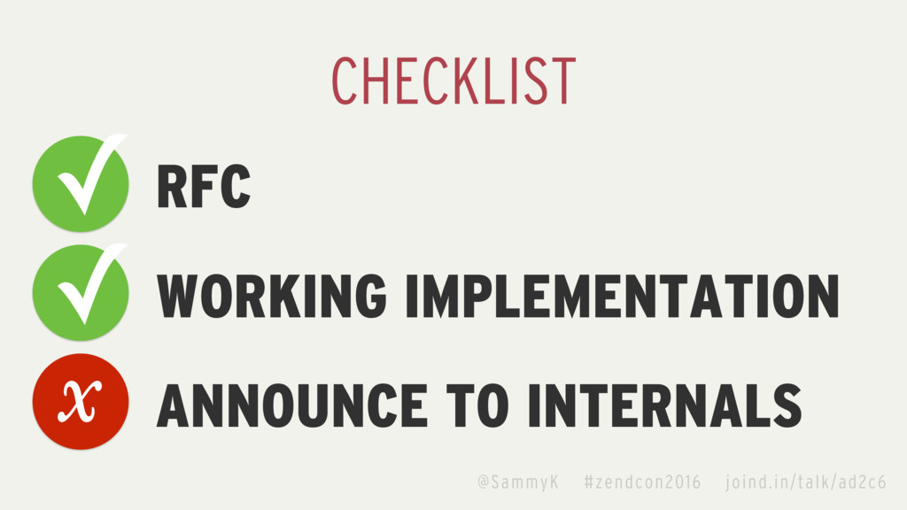 RFC WORKING IMPLEMENTATION ANNOUNCE TO INTERNAL...