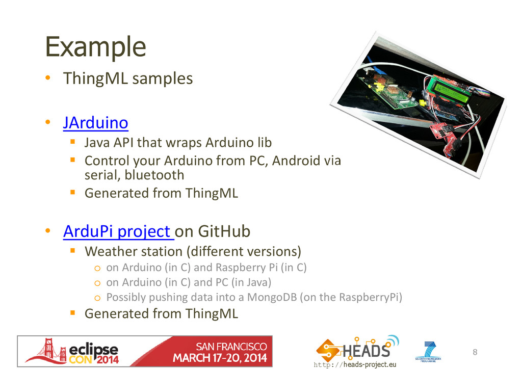 http://heads-project.eu EclipseCon 2014 Example...