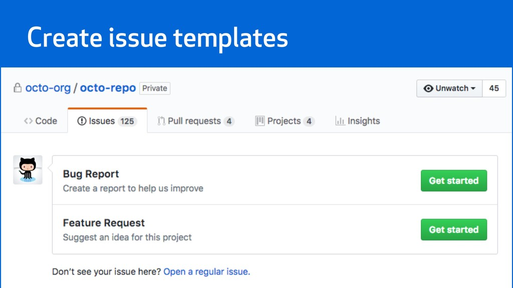Create issue templates