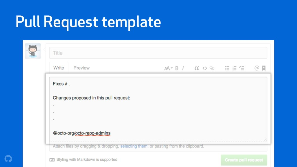 Pull Request template
