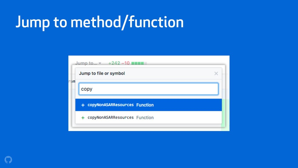 Jump to method/function