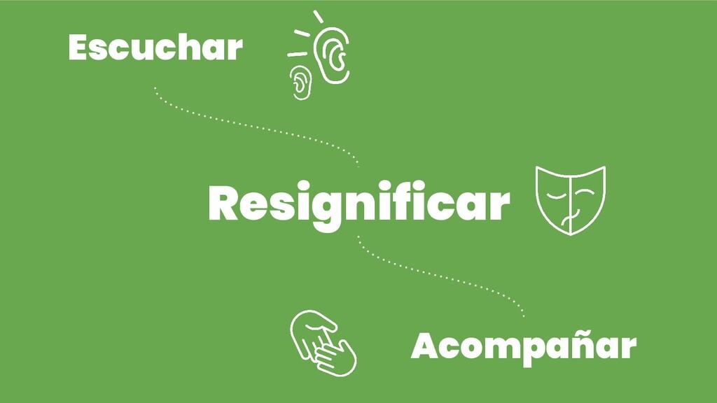 Escuchar Resignificar Acompañar
