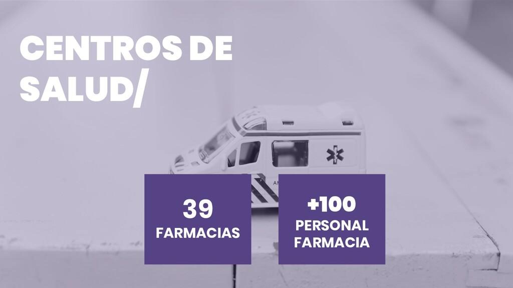 CENTROS DE SALUD/ +100 PERSONAL FARMACIA 39 FAR...