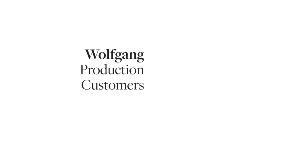 Wolfgang Production Customers