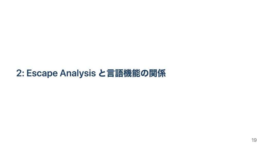 2: Escape Analysis と⾔語機能の関係 19