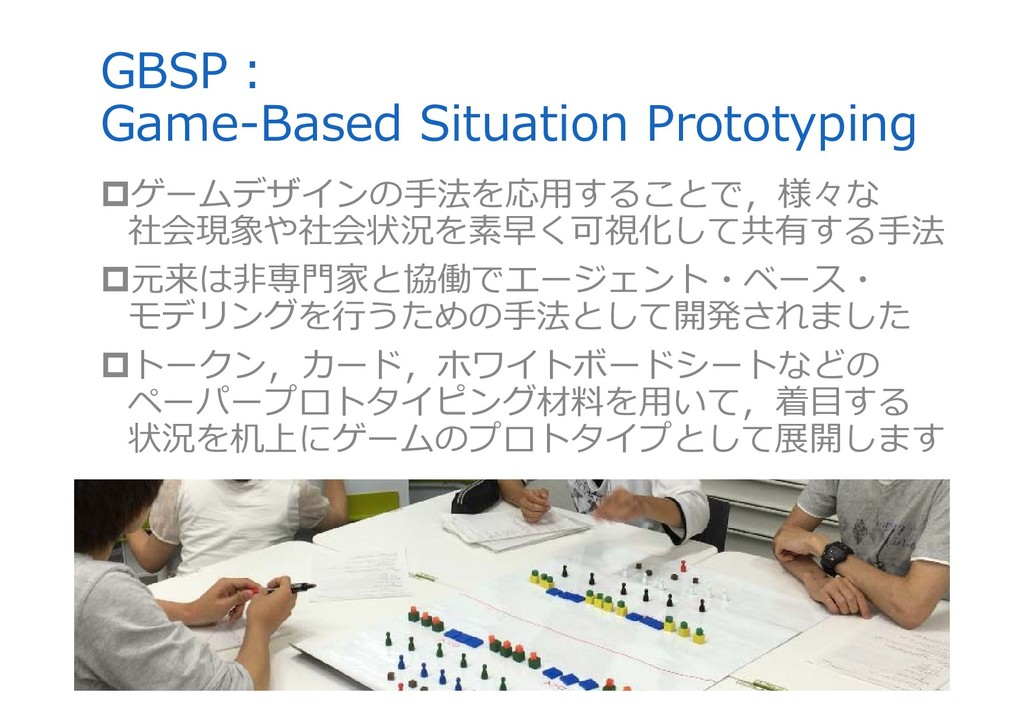 GBSP︓ Game-Based Situation Prototyping ゲームデザイン...
