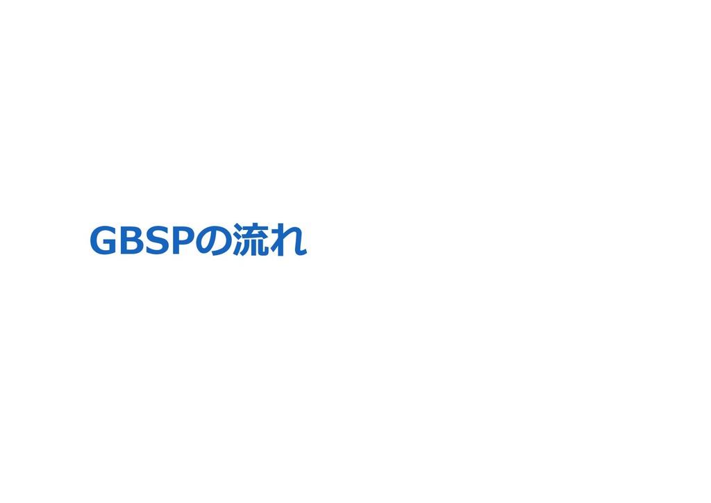 GBSPの流れ